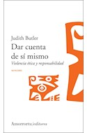 Papel DAR CUENTA DE SI MISMO VIOLENCIA ETICA Y RESPONSABILIDAD (COLECCION MUTACIONES)