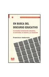 Papel EN BUSCA DEL DISCURSO EDUCATIVO