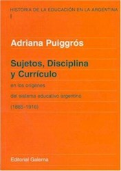 Papel Sujetos Disciplina Y Curriculum Tomo 1
