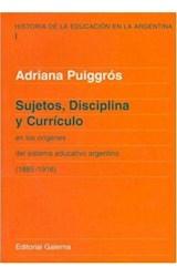Papel SUJETOS, DISCIPLINA Y CURRICULO
