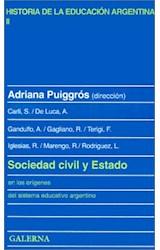 Papel SOCIEDAD CIVIL Y ESTADO EN LOS ORIGENES DEL SIST. EDUC. ARG.
