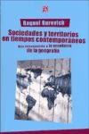Papel Sociedades Y Territorios En Tiempos Contemporaneos. Una Intr