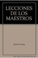 Papel LECCIONES DE LOS MAESTROS (COLECCION TEZONTLE)