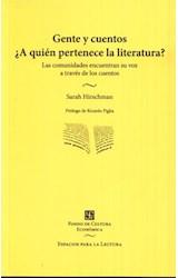 Papel GENTE Y CUENTOS ¨A QUIEN PERTENECE LA LITERATURA?
