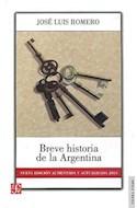 Papel BREVE HISTORIA DE LA ARGENTINA [NUEVA EDICION AUMENTADA Y ACTUALIZADA 2013] (COLECCION TIERRA FIRME)