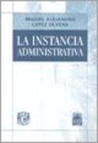 Libro La Instancia Administrativa