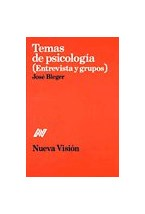 Papel TEMAS DE PSICOLOGIA (ENTREVISTAS Y GRUPO)