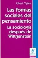 Papel FORMAS SOCIALES DEL PENSAMIENTO LA SOCIOLOGIA DESPUES D