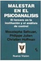 Papel MALESTAR EN EL PSICOANALISIS (TERCERO EN LA INSTITUCION Y EL