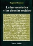 Papel Hermenautica Y Las Ciencias Sociales, La