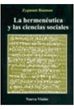 Papel LA HERMENEUTICA Y LAS CIENCIAS SOCIALES