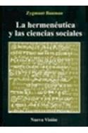 Papel HERMENEUTICA Y LAS CIENCIAS SOCIALES