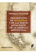 Papel DESCRIPCION DE PATAGONIA Y DE LAS PARTES ADYACENTES DE LA AMERICA MERIDIONAL