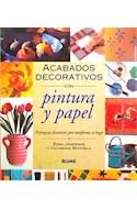Papel ACABADOS DECORATIVOS CON PINTURA Y PAPEL (RUSTICA)