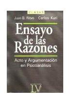 Papel ENSAYO DE LAS RAZONES (ACTO Y ARGUMENTACION EN PSICOANALISIS
