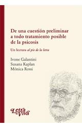 Papel DE UNA CUESTION PRELIMINAR A TODO TRATAMIENTO POSIBLE DE LA