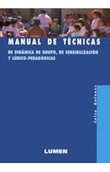 Papel MANUAL DE TECNICAS DE DINAMICA DE GRUPO,SENSIB.Y LUDICO PEDA