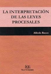 Libro La Interpretacion De Las Leyes Procesales