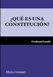 Libro Que Es Una Constitucion ?