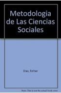 Papel METODOLOGIA DE LAS CIENCIAS SOCIALES (COLECCION METODOLOGIAS) (RUSTICA)