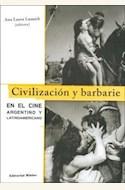 Papel CIVILIZACION Y BARBARIE EN EL CINE ARGENTINO Y LATINOAMERIC.