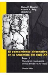 Papel PENSAMIENTO ALTERNATIVO EN LA ARGENTINA DEL SIGLO XX TOMO 2