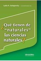 Papel QUE TIENEN DE NATURALES LAS CIENCIAS NATURALES