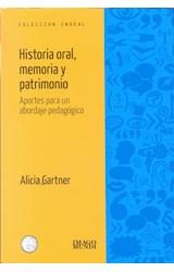 Papel HISTORIA ORAL, MEMORIA Y PATRIMONIO