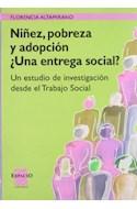 Papel NIÑEZ POBREZA Y ADOPCION UNA ENTREGA SOCIAL UN ESTUDIO