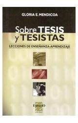 Papel SOBRE TESIS Y TESISTAS (LECCIONES DE ENSEÑANZA APRENDIZAJE)
