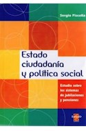 Papel ESTADO CIUDADANIA Y POLITICA SOCIAL ESTUDIO SOBRE LOS S