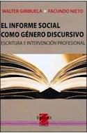 Papel INFORME SOCIAL COMO GENERO DISCURSIVO ESCRITURA E INTER  VENCION PROFESIONAL