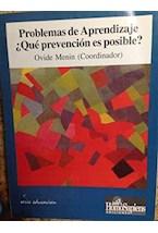 Papel PROBLEMAS DE APRENDIZAJE. QUE PREVENCION ES POSIBLE?