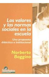 Papel LOS VALORES Y LAS NORMAS SOCIALES EN LA ESCUELA,