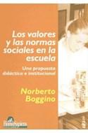 Papel VALORES Y LAS NORMAS SOCIALES EN LA ESCUELA UNA PROPUES  TA DIDACTICA E INSTITUCIONAL