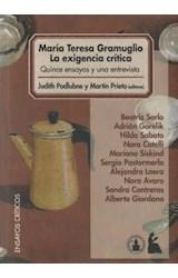 Papel MARIA TERESA GRAMUGLIO LA EXIGENCIA CRITICA