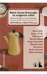 E-book María Teresa Gramuglio. La exigencia crítica.