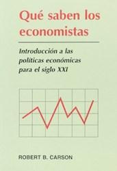 Papel Que Saben Los Economistas