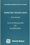 Papel DERECHO SOCIETARIO PARTE GENERAL TRANSFORMACION DE SOCI