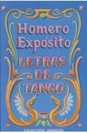 Papel LETRAS DE TANGO (HOMERO EXPOSITO)