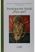 Papel PARTICIPACION SOCIAL ¨PARA QUE?