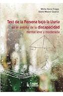 Papel TEST DE LA PERSONA BAJO LA LLUVIA EN EL AMBITO DE LA DISCAPACIDAD MENTAL LEVE Y MODERADA