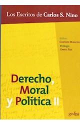 Papel DERECHO, MORAL Y POLITICA 2 LOS ESCRITOS DE CARLOS S. NINO
