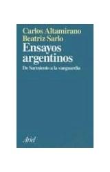 Papel ENSAYOS ARGENTINOS (DE SARMIENTO A LA VANGUARDIA)