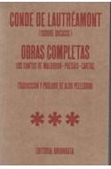 Papel OBRAS COMPLETAS (LAUTREAMONT CONDE DE) (CANTOS DE MALDOROR-POESIAS-CARTAS)