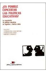 Papel ES POSIBLE CONCERTAR LAS POLITICAS EDUCATIVAS? ARGENTINA Y A