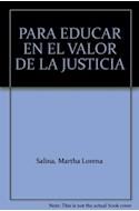 Papel PARA EDUCAR EN EL VALOR DE LA JUSTICIA REPRESENTACIONES  SOCIALES EN EL MARCO DE LA ESCUELA