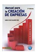 Papel MANUAL PARA LA CREACION DE EMPRESAS (3 EDICION)