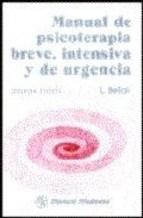 Papel MANUAL DE PSICOTERAPIA BREVE, INTENSIVA Y DE URGENCIA