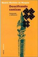 Papel DESCIFRANDO CENIZAS PERSECUCION E INDIFERENCIA (PAIDOS AMATEURS 67605)